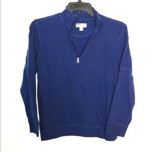 Falls Creek M 1/4 Zip Pullover Sweatshirt Blue EUC